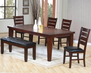 table u0026 4 chairs bench all wood dining room83 wood